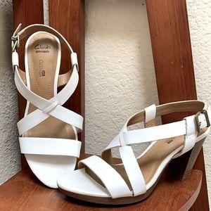 Clarks Woman's Cross Strap Sandals